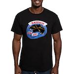USS BATFISH Men's Fitted T-Shirt (dark)
