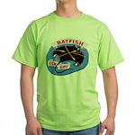 USS BATFISH Green T-Shirt