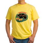 USS BATFISH Yellow T-Shirt
