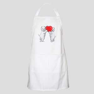 Westies with Heart Apron