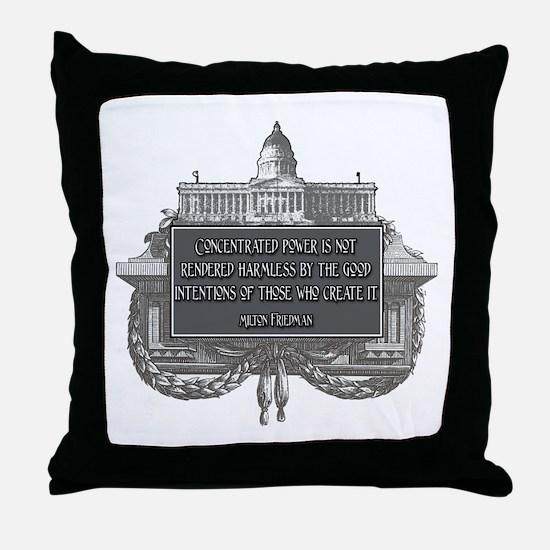 MILTON FRIEDMAN ON CONCENTRAT Throw Pillow