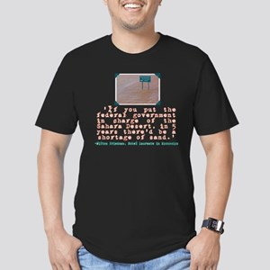 MILTON FRIEDMAN ON GOVERNMENT Men's Fitted T-Shirt