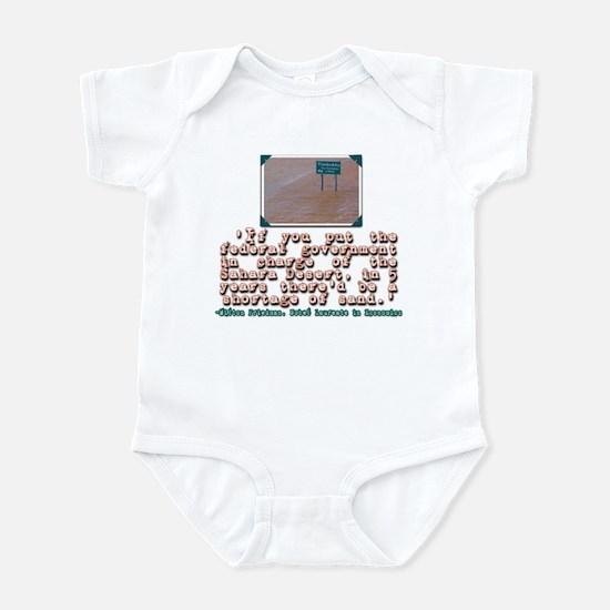MILTON FRIEDMAN ON GOVERNMENT Infant Bodysuit