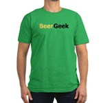 Bubbly Beer Geek Men's Fitted T-Shirt (dark)
