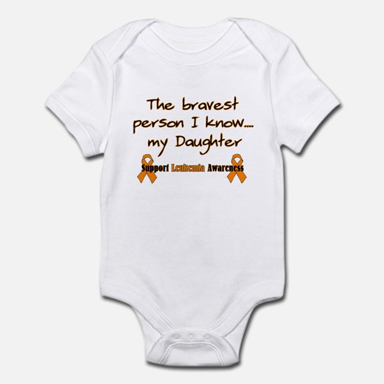 Orange Daughter Brave Infant Bodysuit