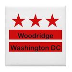 Woodridge - D.C . Flag Inspir Tile Coaster