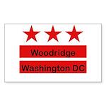 Woodridge - D.C . Flag Inspir Rectangle Sticker
