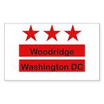 Woodridge - D.C . Flag Inspir Rectangle Sticker 1