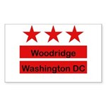 Woodridge - D.C . Flag Inspir Rectangle Sticker 1