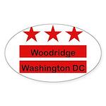 Woodridge - D.C . Flag Inspir Oval Sticker