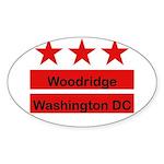 Woodridge - D.C . Flag Inspir Oval Sticker (50 pk)