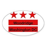 Woodridge - D.C . Flag Inspir Oval Sticker (50 pk)