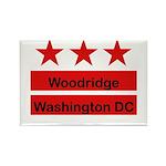 Woodridge - D.C . Flag Inspir Rectangle Magnet (10