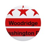 Woodridge - D.C . Flag Inspir Ornament (Round)