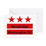 Woodridge - D.C . Flag Inspir Greeting Cards (Pk o