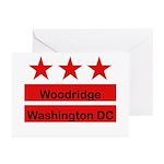 Woodridge - D.C . Flag Inspir Greeting Cards (Pk o
