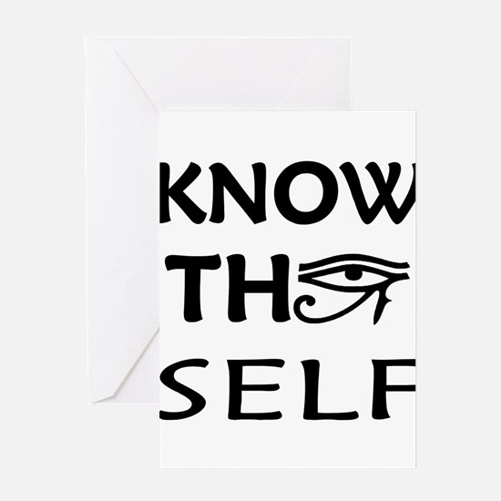 Know Thy Self Greeting Card