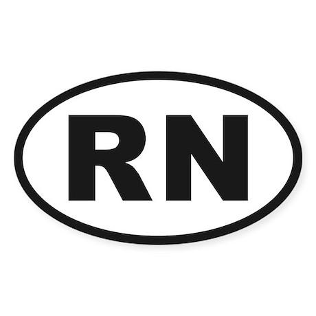 RN Oval Sticker