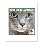 Russian Blue Cat Small Poster