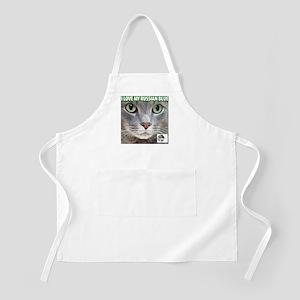 Russian Blue Cat BBQ Apron