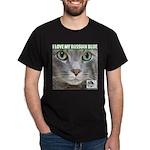 Russian Blue Cat Black T-Shirt