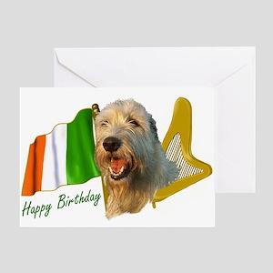 Irish Wolfhound Happy Birthday Greeting Card