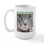 Russian Blue Cat Large Mug