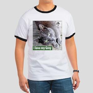 Grey Cat Ringer T