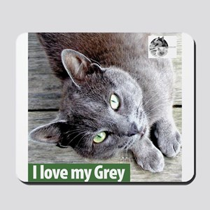 Grey Cat Mousepad