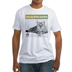 British Shorthair Cat Fitted T-Shirt
