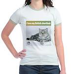 British Shorthair Cat Jr. Ringer T-Shirt