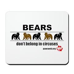 Bears Don't Belong - Mousepad