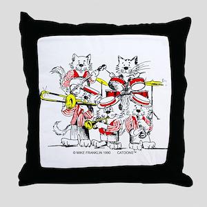 The Jazz Cats Throw Pillow