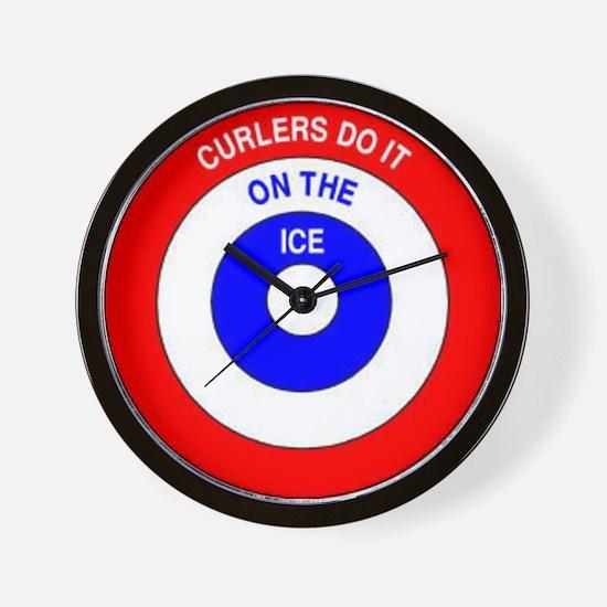 Curling Rocks Wall Clock