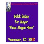 Buday for Mayor Small Poster