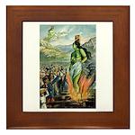 Death of the Green Fairy Framed Tile