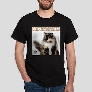 Calico Cat Black T-Shirt