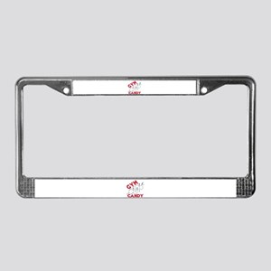 GYM CANDY License Plate Frame