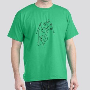 Skiing Snowman Dark T-Shirt