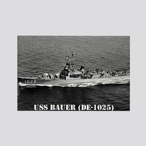 USS BAUER Rectangle Magnet