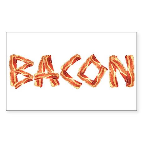 BACON Rectangle Sticker
