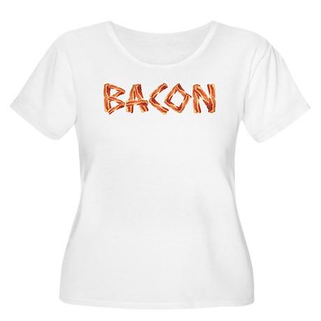 BACON Women's Plus Size Scoop Neck T-Shirt