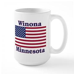 Winona US Flag Large Mug