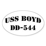 USS BOYD Oval Sticker (10 pk)