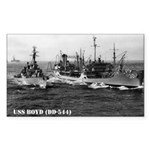 USS BOYD Rectangle Sticker
