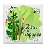 Pilates Svelte Happens Tile Coaster
