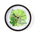 Pilates Svelte Happens Wall Clock
