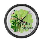 Pilates Svelte Happens Large Wall Clock