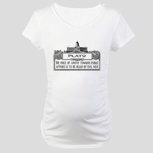 PLATO SPEAKS Maternity T-Shirt