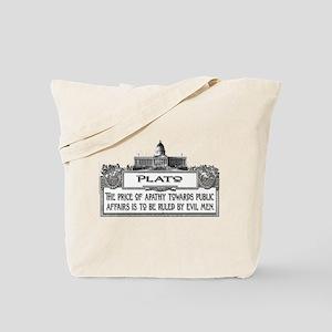 PLATO SPEAKS Tote Bag